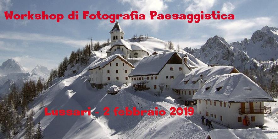 WORKSHOP FOTOGRAFIA PAESAGGISTICA MONTE LUSSARI - 2 FEBBRAIO 2019