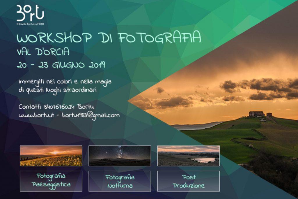 VAL D'ORCIA – WORKSHOP FOTOGRAFICO 20-23 GIUGNO 2019