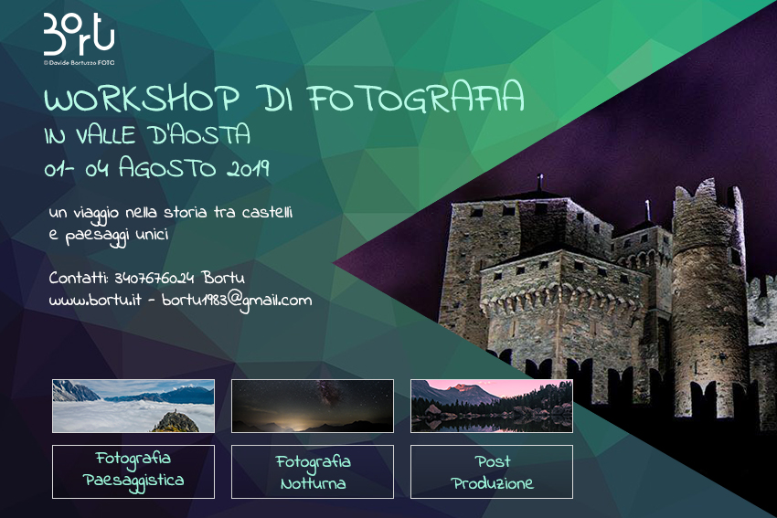 Valle d'Aosta – WORKSHOP FOTOGRAFICO 01-04 Agosto 2019