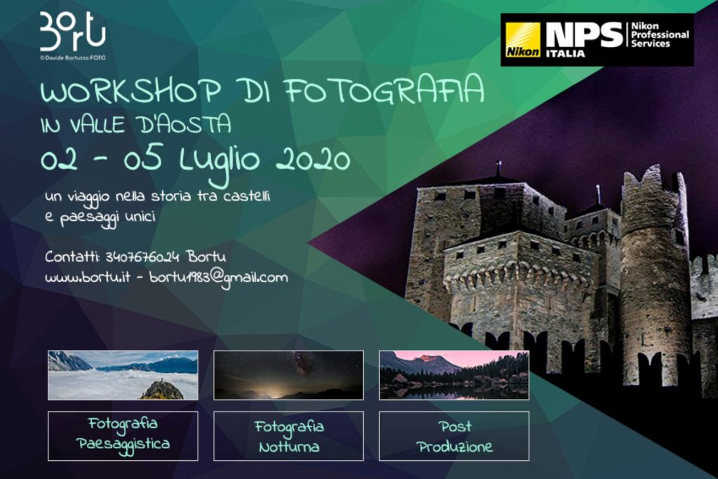 WORKSHOP DI FOTOGRAFIA IN VALLE D'AOSTA 2 - 5 luglio 2020